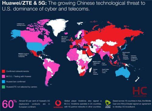 华wei5G设bei全球分布蚸i毓?手ji信号器